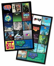 "YES twin pack album cover discography magnet set (4.75"" x 3.75"") genesis rush"