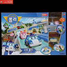 RoboCar Auto Poli Deluxe Smart Vehicle Playset Amber Electric Car Track Station