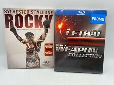 Lethal Weapon Collection & Rocky Heavyweight Blu Ray Dvd Set Lot