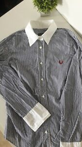Camicia Fred Perry tg s donna righe blu-bianche