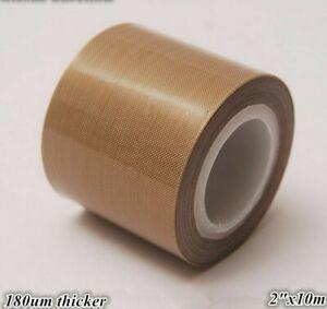 "PTFE Teflon Tape adhesive 2""x33ft 180um thicker 662℉ high-temp Fiberglass"