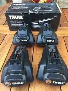 Thule 757 Rapid Fußsatz (4 Füße) für Fahrzeuge mit Reling, Thule 757000
