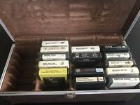 14 8-Track Tapes. Various Artists. With Case