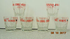 Lot off 6 TEXAS BIG SHOT Glass BLACK ANGUS Restaurants Home of the Angus Sour 4""