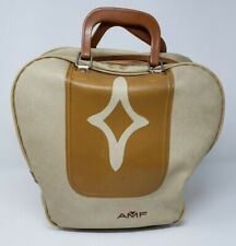 Vintage Bowling Ball Bag Carrier Craft purse AMF Steampunk case
