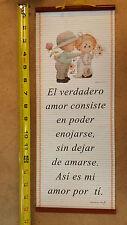 Pergaminos 'El Verdadero Amor Consiste'- Adornos Cristianos