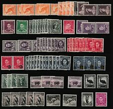 Pre Decimal,Aust,KGVI Definitives,All MUH to 1/4 x 127,Various WMs & Perfs,#2701