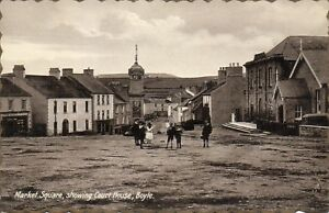 MARKET SQUARE SHOWING COURT HOUSE BOYLE ROSCOMMON IRELAND MILTON IRISH POSTCARD
