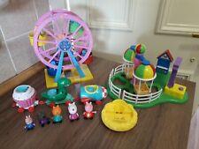 Peppa pig bundle - Balloon Ride Ferris Wheel Rollercoaster Train Figures