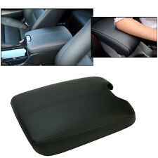 Center Console Lid Armrest Cover For 08-12 HONDA ACCORD Synthetic Leather Black