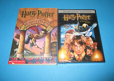 Harry Potter and the Sorcerer's Stone PB- BOOK  & DVD-  J.K .Rowling -FREE SHIP!