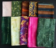 Batik Quilting Fabric, Assorted Patterns, 10, 1-yard pieces