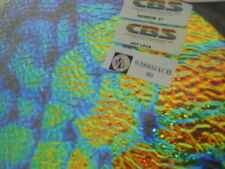 "Dichroic Glass:CBS 90 COE Hot Lava Pattern on ""Rainbow"" Ripple Clear - 3""Sq"