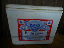 Man Cave Collectible Vintage Budweiser Metal Beer Tailgating Cooler
