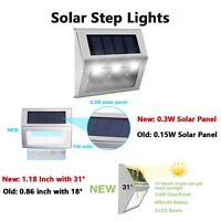 3 LED Solar Power Driveway Pathway Dock Path Ground Road Step Light