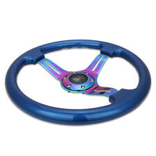 14'' Universal 45mm Deep Dish Corn Blue ABS Steering Wheel Neochrome Spoke 350mm