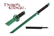 1 PC Full Tang Green Blade Straight Ninja Sword with Musashi Tsuba NEW