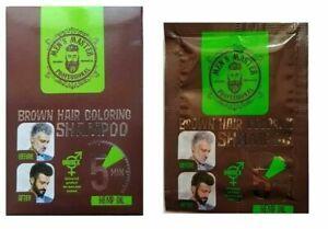 Rosa Impex Men's Master BROWN Hair Coloring Shampoo Cover Gray Hair Sashets