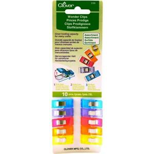 Clover Wonder Clips, Assorted Colors 10pc