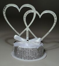 Intertwined Hearts Acrylic Monogram Wedding Cake Topper 950 HANDCRAFTED IN USA