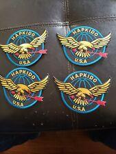 "Hapkido Eagle Usa Martial Arts Patch - 4.5"" set of 4"