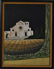 Opera unica Paschetta Mario olio su tela 60x80 Toscana San Giminiano astratto