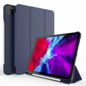"""Leather Smart Case Cover Pencil Holder For Apple iPad Pro 11 2020 10.5 10.2 9.7"""""""