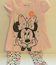 Disney Baby Girl 24M Legging Set Mickey Mouse Pants & Top New