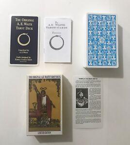 Rider A.E.Waite Original Tarot Cards NEW & SEALED++FREE VELVET POUCH++