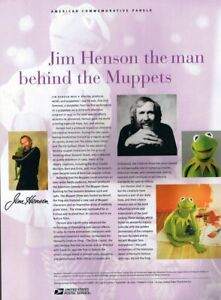 #749 39c Jim Henson and the Muppets Stamp #3944 USPS Commemorative Stamp Panel