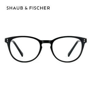 Shaub & Fischer Round Black Reading Glasses +0.50 to +6.00