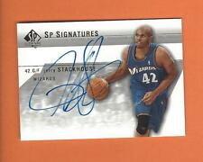 2003-04 SP AUTHENTIC JERRY STACKHOUSE ON CARD AUTO #JS-A WASHINGTON WIZARDS
