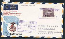 62159) LH FF La Paz-Guayaquil 1.4.68, SoU St violett, Violine Geige music