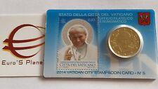 stamp coin card N 5 50 centimes 2014 euro VATICAN Vaticano Vatikan Jean Paul II