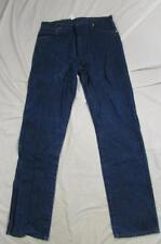 Wrangler 13MWZ Dark Denim Jeans Tag Size 38x36 Measure 36x36 Cowboy
