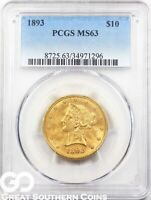U.S. Gold, $10 Liberty Eagle PCGS MS 63 ** Random Dates