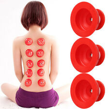 ventouse cup silicone anti cellulite amincissant massage minceur rouge X 3 pcs