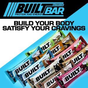 BUILT BAR Chocolate Protein & Energy Bars - Box of 18 Bars CHOOSE YOUR FLAVOR