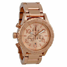 Nixon A037897 42-20 Chrono Rose Gold Mens Chronograph Analog Watch