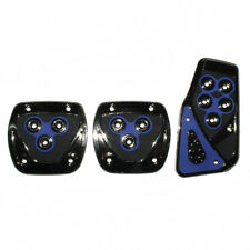 Bleu Chrome Voiture Pédale Couvre Pads Antidérapants Pour Peugeot 106 206 107
