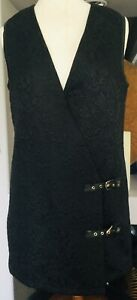 GUCCI FABULOUS LONG VEST LEATHER AND BRASS