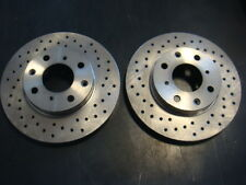 Civic DX, CX, HX, VX, Del Sol & CRX High Quality Front Cross Drilled Brake Rotor