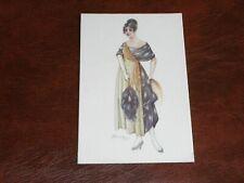 ORIGINAL CHERUBINI SIGNED ART NOUVEAU GLAMOUR POSTCARD - FASHIONABLE LADY.