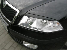 Skoda OCTAVIA 2 II eyebrows, ABS plastic  04- headlights spoiler eyelids RST