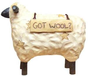 Country Farmhouse Resin Standing Got Wool Sheep
