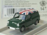 Brekina Austin Mini Van, GB Flagge, dunkelgrün - 15359 - 1:87