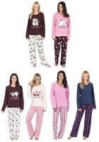 Womens Forever Dreaming Winter Cosy Soft Feel Fleece Top & Bottoms Pyjamas pjs