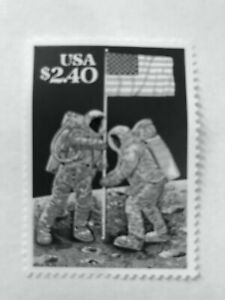 (10 Qty) $2.40 Space Landing Stamps