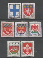 FRANCE 1958 série Blasons YT n° 1180 à 1186 Neufs  ★★ luxe / MNH