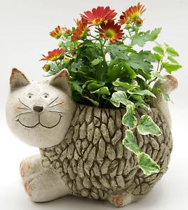 Mosaic Cat Resin Planter Garden Figurine Plant Pot Holder Garden Indoor Ornament